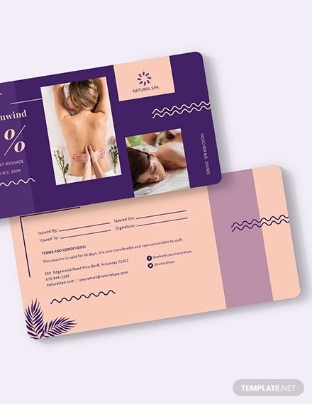 Sample Spa Voucher Download