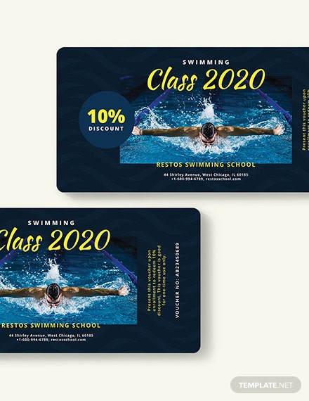 Sample Swimming Class Voucher