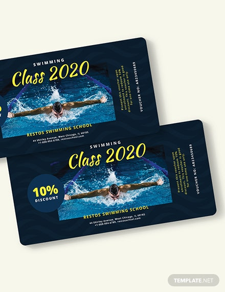 Swimming Class Voucher Download