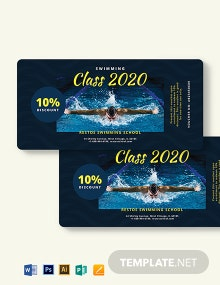 Swimming Class Voucher Template