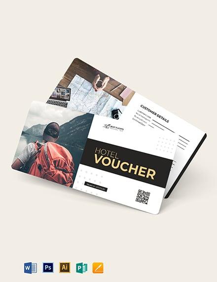 Travel Agent Hotel Voucher Template