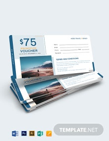 Travel Promotion Voucher Template