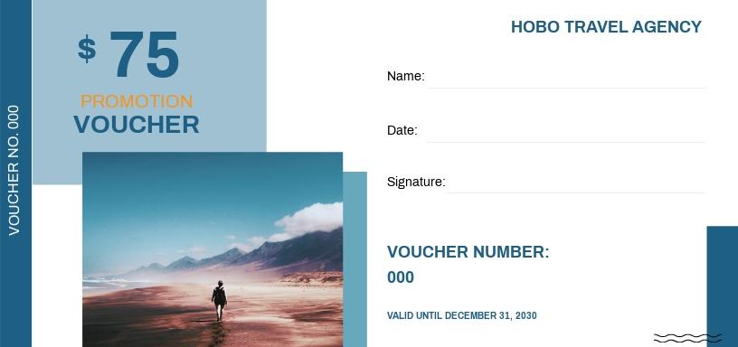 Travel Promotion Voucher Template