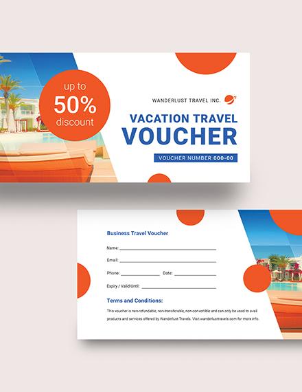 Sample Vacation Travel Voucher