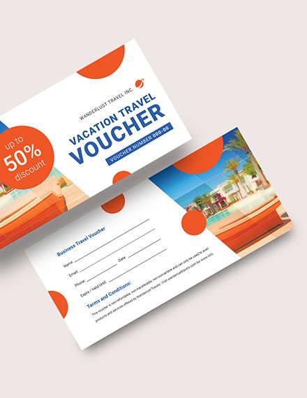Vacation Travel Voucher Download
