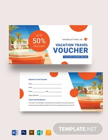 Vacation Travel Voucher Template