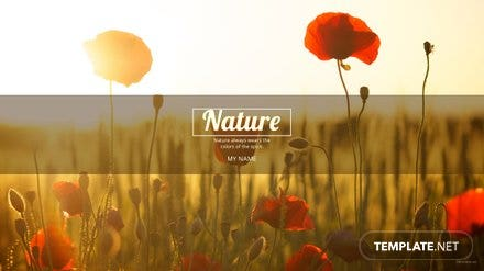 Free Nature YouTube Channel Art Template