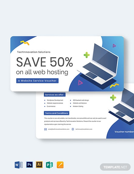 Website Service Voucher Template