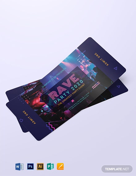 Admit One Ticket Voucher Template