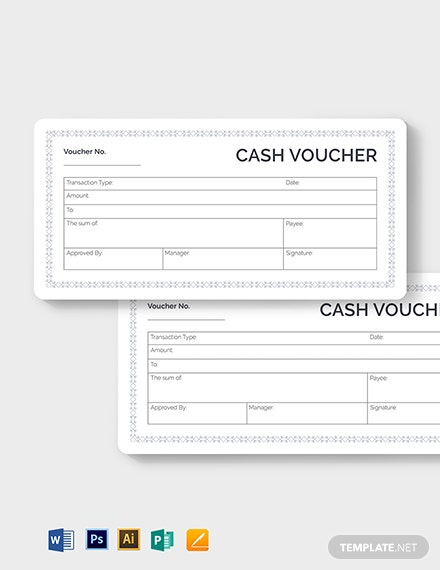 blank cash voucher template 2