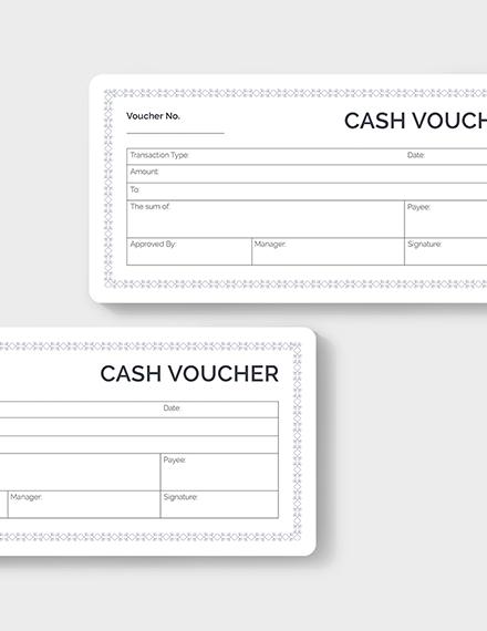 Sample Blank Cash Voucher