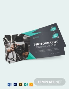 Blank Photography Voucher Template
