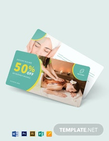 Blank Spa Voucher Template