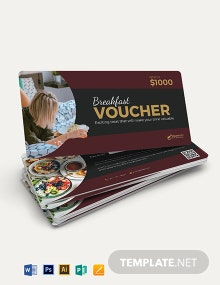 Breakfast in Bed Hotel Voucher Template