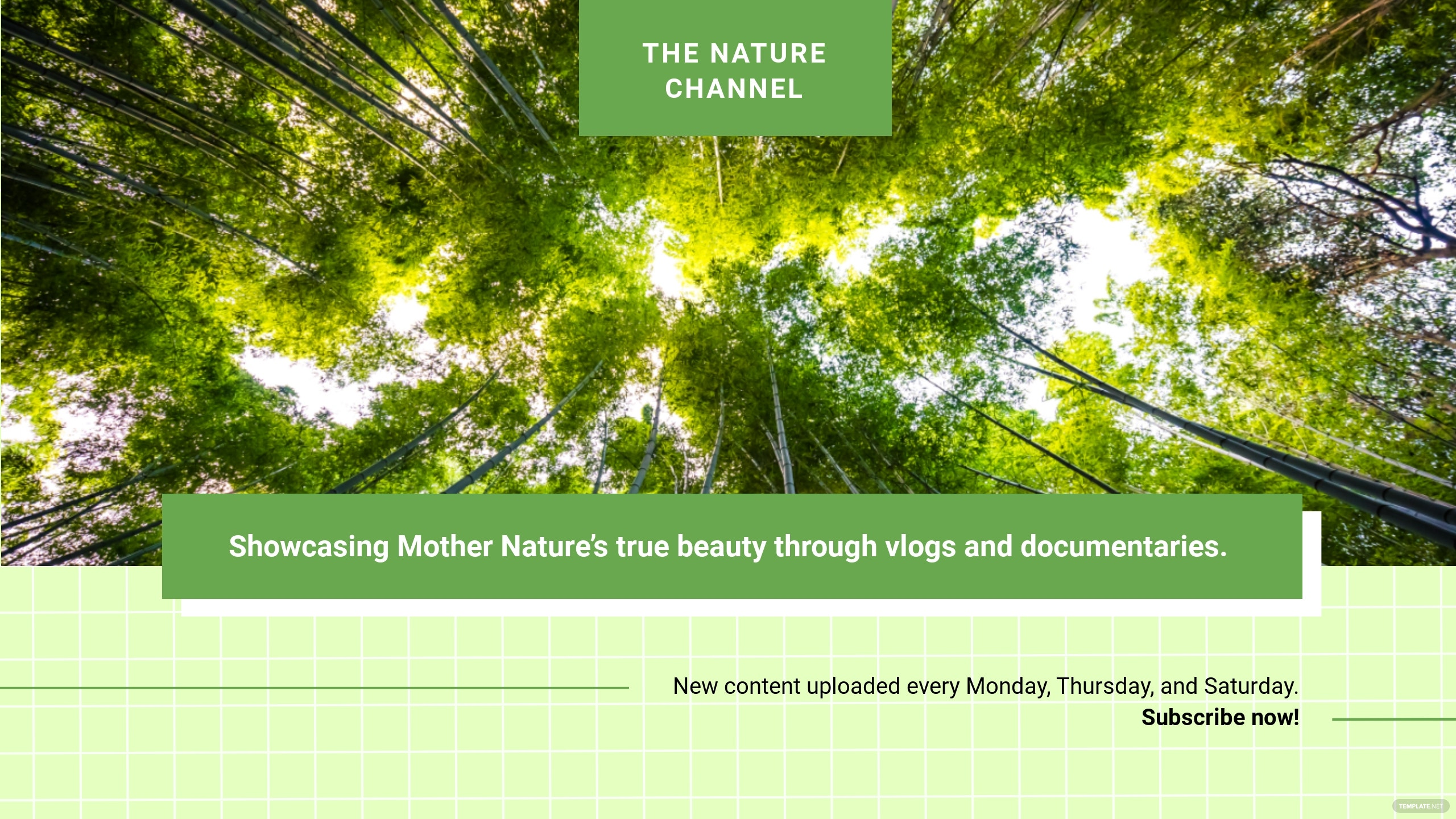 Free Nature YouTube Channel Template