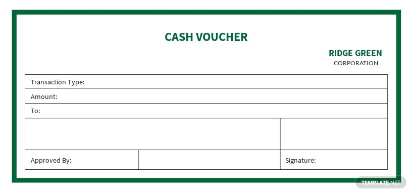 Business Cash Voucher Template