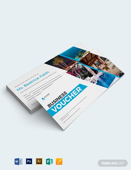 Business Center Hotel Voucher Template