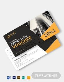 Business Promotion Voucher Template