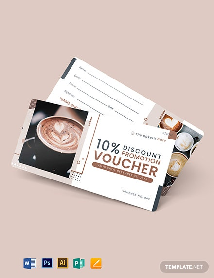 Cafe Promotion Voucher Template