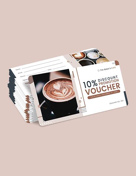 Sample Cafe Promotion Voucher