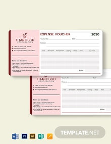 Cash Expense Voucher Template