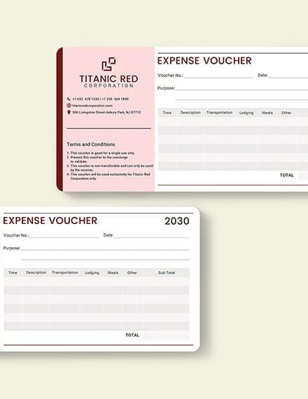 Sample Cash Expense Voucher