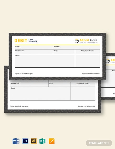 Debit Cash Voucher Template