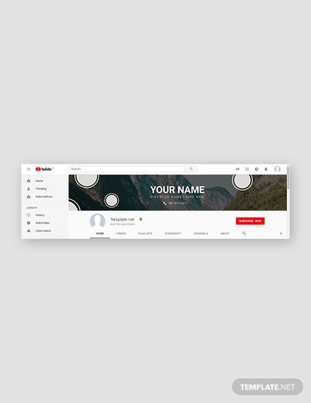 Free YouTube Channel Nature Template