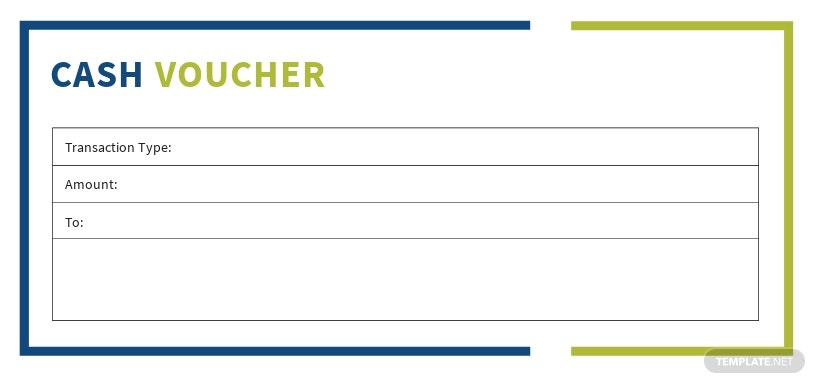 Editable Cash Voucher Template