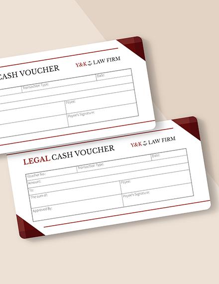 Legal Cash Voucher Download