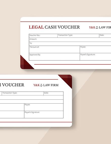 Sample Legal Cash Voucher