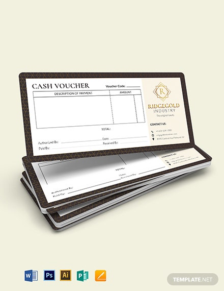 luxury cash voucher template 1