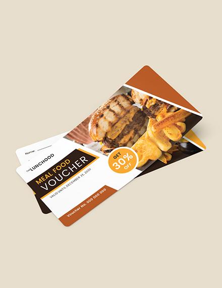 Meal Food Voucher Download
