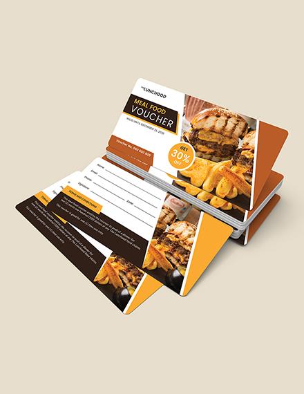 Sample Meal Food Voucher
