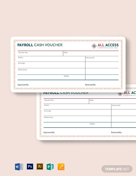 payroll cash voucher template 1
