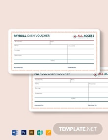 Payroll Cash Voucher Template