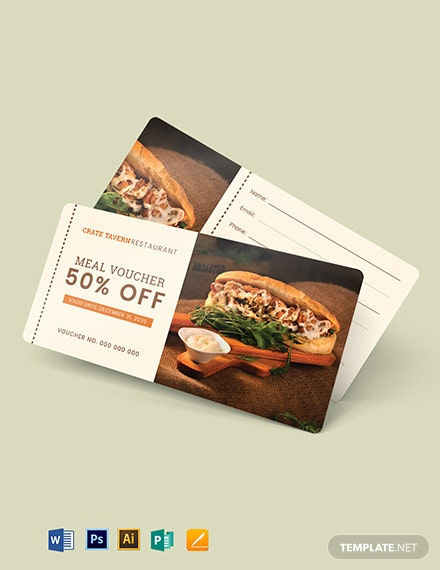 Printable Food Voucher Template