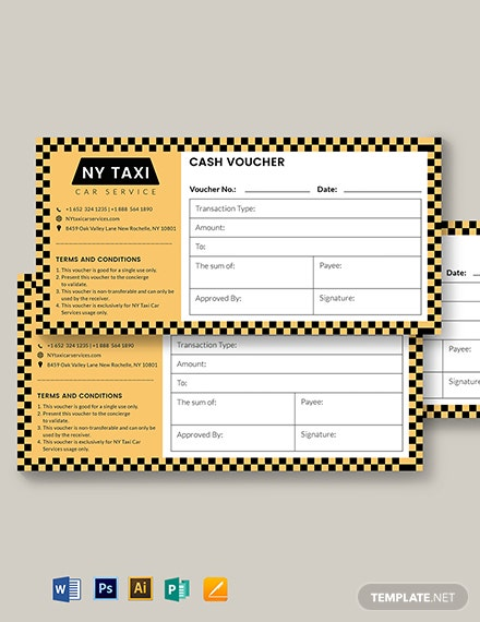 taxi cash voucher template 1