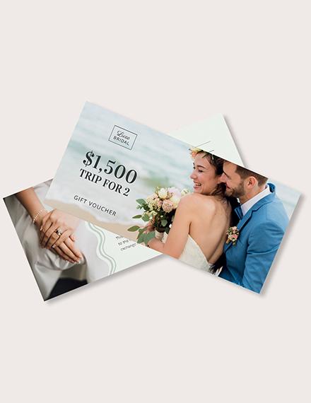 Elegant Wedding Gift Voucher Download