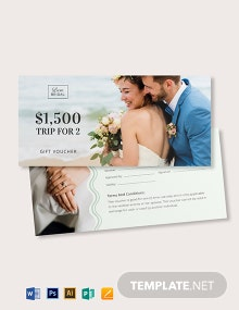 Elegant Wedding Gift Voucher Template