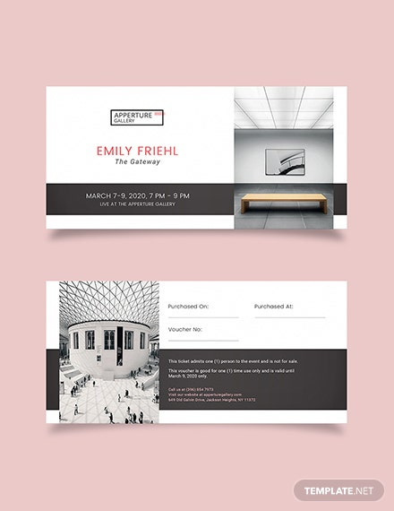 Simple Event Ticket Voucher Download