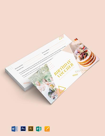 Printable Birthday Gift Voucher Template