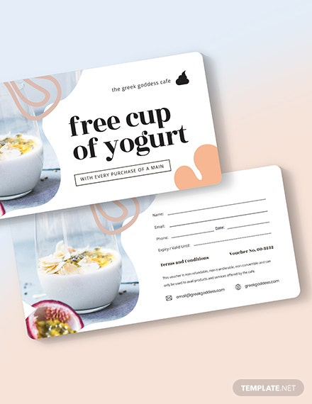 Restaurant Dessert Voucher Download
