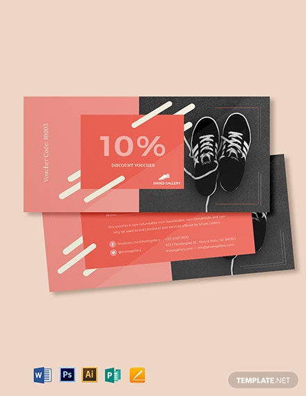10% Discount Voucher Template