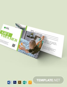 Hotel Voucher Gift Card Template