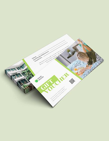 Sample Hotel Voucher Gift Card