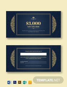 Hotel Wedding Gift Voucher Template