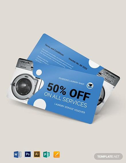 Laundry Service Voucher Template