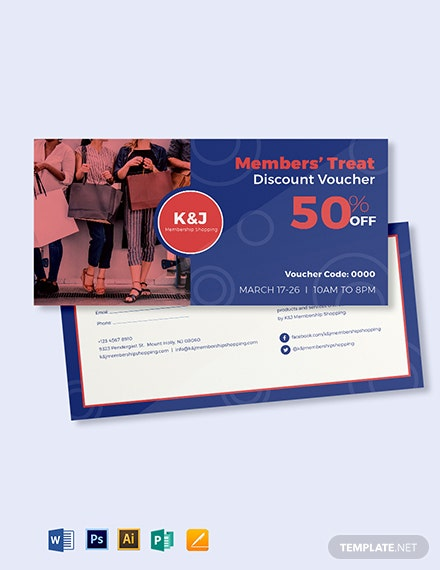 member discount voucher template 1