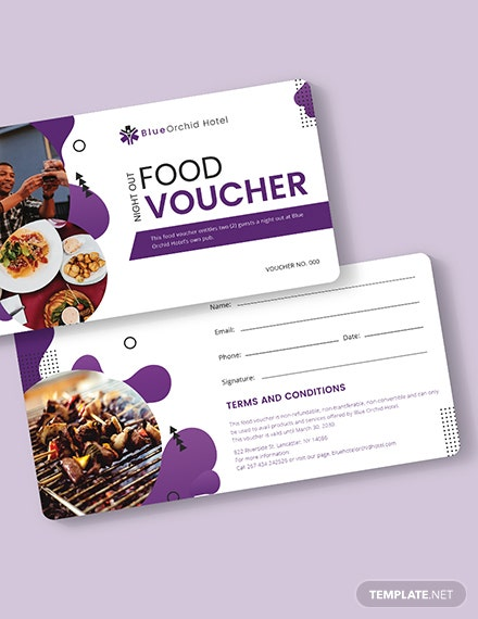 Night Out Food Voucher Download